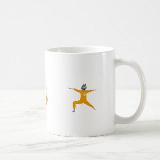 Cat life mag yellow コーヒーマグカップ
