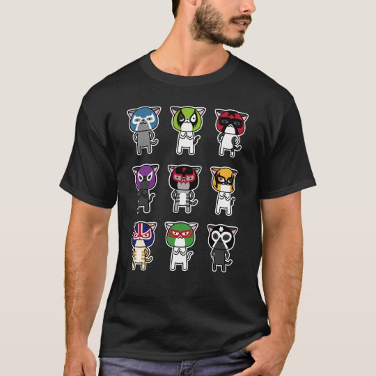 CAT LUCHADORES c Tシャツ