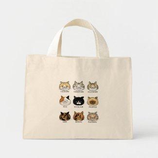 *cat tote*猫柄【ブサ猫】 ミニトートバッグ