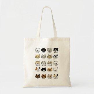 *cat tote*猫柄【ブサ猫】綿 トートバッグ