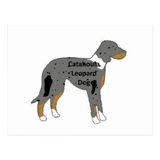 catahoulaのヒョウ犬の名前のサイロcolor.png ポストカード