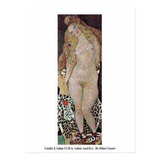 Català: L'Adam I L'Eva、アダムおよびイブ ポストカード