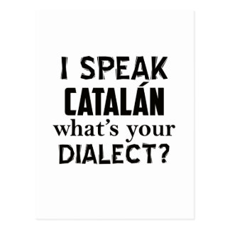 CATALÁNの言語デザイン ポストカード