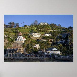Catalinaの島のAvalonの町、 ポスター