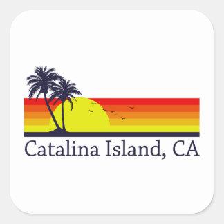 Catalinaの島カリフォルニア スクエアシール