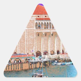 Catalinaの島 三角形シール