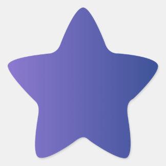 Catalinaの青い縦の勾配への中型の紫色 星シール