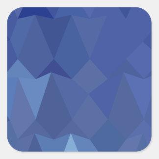 Catalinaの青の抽象芸術の低い多角形の背景 スクエアシール