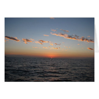 Catalinaチャネル上の日の出 カード