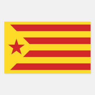 Catalonian社会主義Esteladaの旗のステッカー 長方形シール