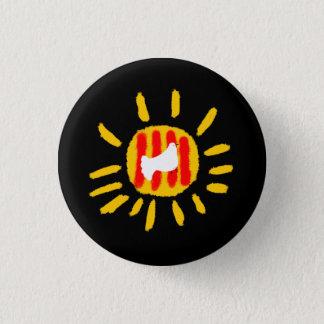 Catalunyaの平和太陽、カタロニア 3.2cm 丸型バッジ