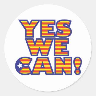 Catalunyaは、yes私達できます 丸形シール・ステッカー