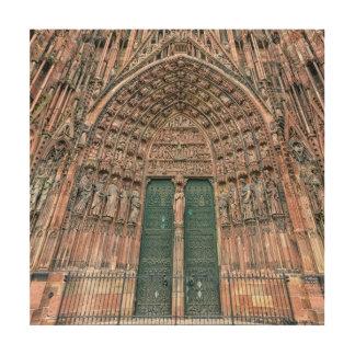 Cathedrale Notre Dame、ストラスブール、フランス ウッドウォールアート