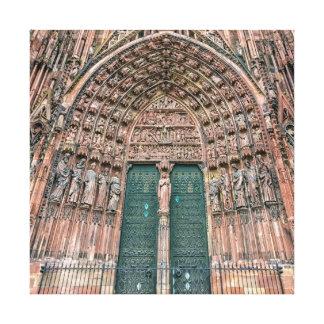 Cathedrale Notre Dame、ストラスブール、フランス キャンバスプリント