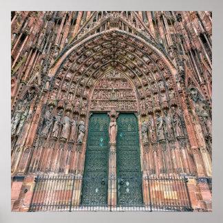 Cathedrale Notre Dame、ストラスブール、フランス ポスター