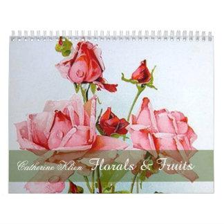 Catherine Klein Floral & Fruit Custom Calendar カレンダー