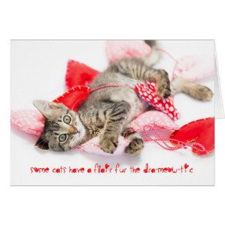 catitudeのバレンタインを持つ戯曲子ネコ カード