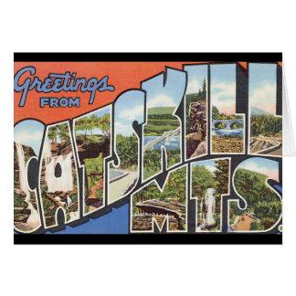 Catskill Mtsの。_Vintage旅行ポスターからの挨拶 カード