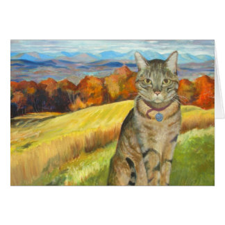 Catskillsのレオン- Canvas_ 18 x 24_Lorで油をさして下さい カード