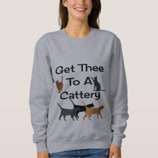 CatteryのスエットシャツにTheeを得て下さい スウェットシャツ