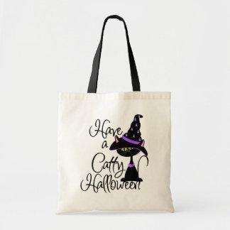 Cattyハロウィンのトリック・オア・トリートのバッグを持って下さい トートバッグ