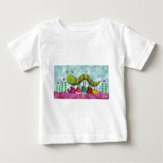Catty幼虫のTシャツ ベビーTシャツ