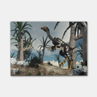 Caudipteryxの恐竜- 3Dは描写します ポストイット
