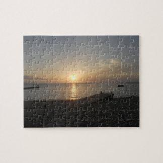 Cave Beach Mo Bayジャマイカの日没の博士のパズル ジグソーパズル