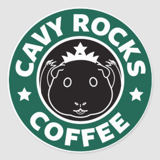 Cavy Rocks Coffee Sticker ラウンドシール