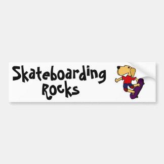 CBのラブラドル・レトリーバー犬犬のスケートボーディング バンパーステッカー