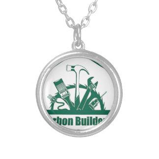 CBAのロゴ シルバープレートネックレス