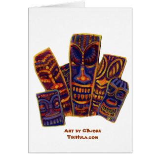 CBjorkのハワイ諸島のTikiの頭部 カード