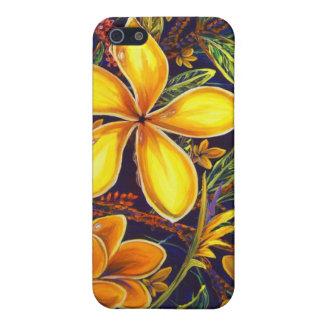 CBjorkの黄色い島のプルメリアの芸術 iPhone 5 Cover