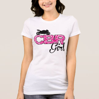 CBRGirlのシマウマのプリントのティー Tシャツ