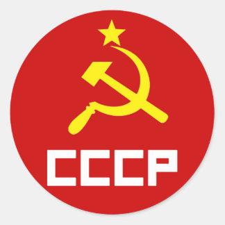 CCCPのステッカー ラウンドシール