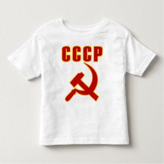 cccpのソビエト社会主義共和国連邦のソ連国旗 トドラーTシャツ