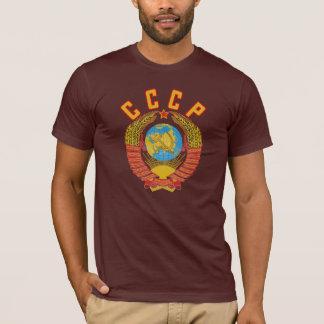 CCCPのソビエト紋章付き外衣 Tシャツ