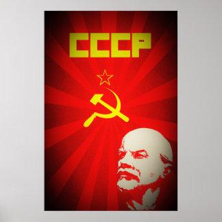 cccpのソビエト連邦共産主義の赤いレーニンロシアのpropa ポスター