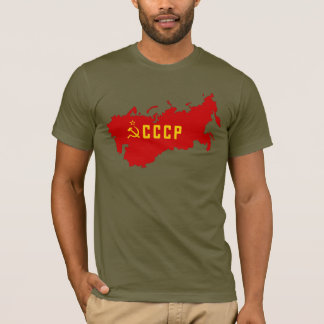 CCCPソビエト連邦の地図 Tシャツ