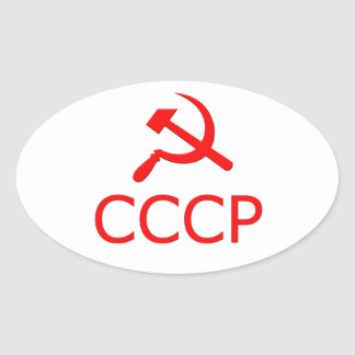 CCCP 楕円形シール