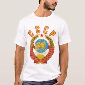 CCCP Tシャツソビエト紋章付き外衣 Tシャツ