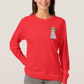 CDかわいいシーズー(犬)のTzuの小犬のワイシャツ Tシャツ