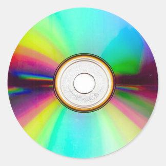 CD円形のステッカー ラウンドシール