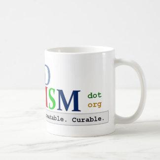 CD自閉症のロゴのマグ コーヒーマグカップ