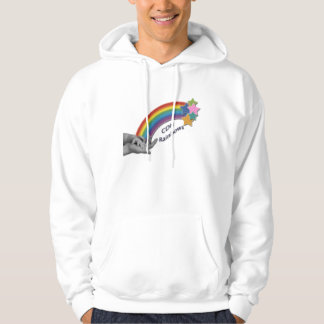 CDHの虹の基本的なフード付きのスエットシャツ パーカ