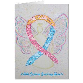 CDHの認識度のリボンの天使の挨拶状 カード