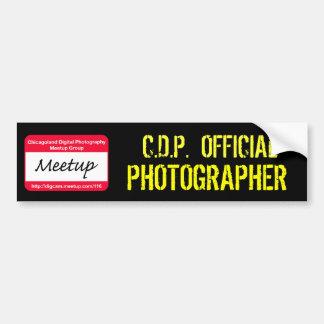 CDPの公式のカメラマンのステッカー バンパーステッカー