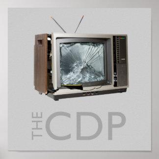 CDPの粉砕TVポスター ポスター