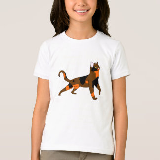 Cedarspotの女の子の基本的なアメリカの服装のTシャツ Tシャツ