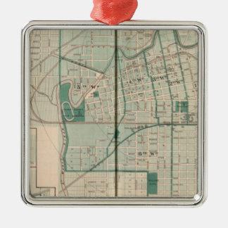 Cedarvilleのフォートウェイン市の地図 メタルオーナメント